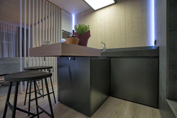 Holzmodul Küche