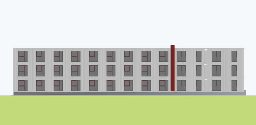 Wohngebäude für Studenten