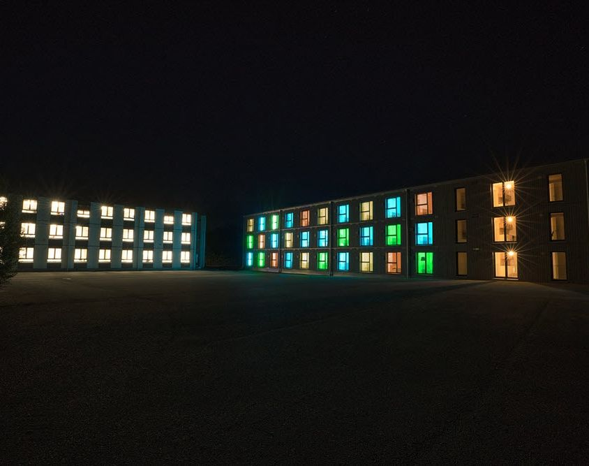 Campus Akademie mit Holzraummodulen von Timber Homes.